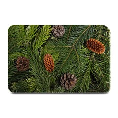 Branch Christmas Cone Evergreen Plate Mats by Celenk