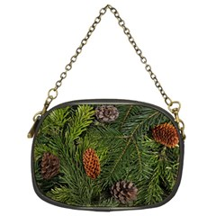 Branch Christmas Cone Evergreen Chain Purses (two Sides)  by Celenk