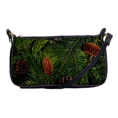 Branch Christmas Cone Evergreen Shoulder Clutch Bags by Celenk