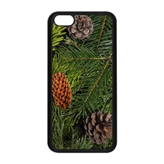Branch Christmas Cone Evergreen Apple Iphone 5c Seamless Case (black) by Celenk