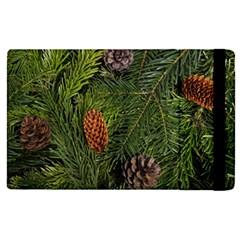 Branch Christmas Cone Evergreen Apple Ipad Pro 9 7   Flip Case by Celenk