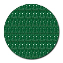 Christmas Tree Pattern Design Round Mousepads by Celenk