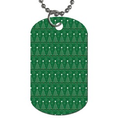 Christmas Tree Pattern Design Dog Tag (two Sides) by Celenk