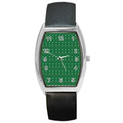 Christmas Tree Pattern Design Barrel Style Metal Watch by Celenk
