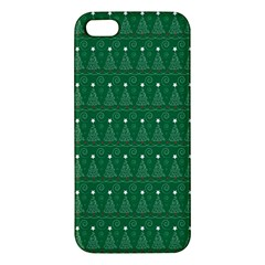 Christmas Tree Pattern Design Apple Iphone 5 Premium Hardshell Case by Celenk
