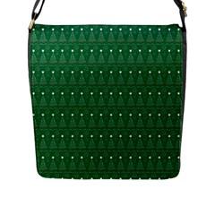 Christmas Tree Pattern Design Flap Messenger Bag (l)