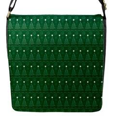 Christmas Tree Pattern Design Flap Messenger Bag (s) by Celenk