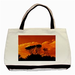 Trees Branches Sunset Sky Clouds Basic Tote Bag by Celenk