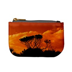 Trees Branches Sunset Sky Clouds Mini Coin Purses by Celenk