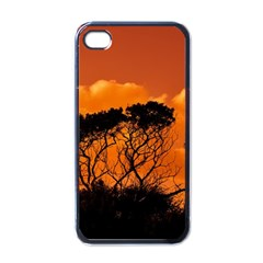 Trees Branches Sunset Sky Clouds Apple Iphone 4 Case (black) by Celenk