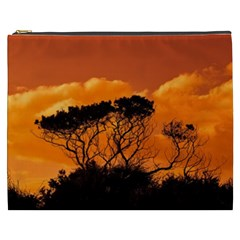 Trees Branches Sunset Sky Clouds Cosmetic Bag (xxxl)  by Celenk