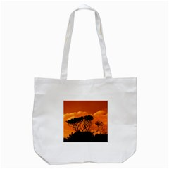 Trees Branches Sunset Sky Clouds Tote Bag (white) by Celenk