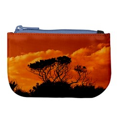 Trees Branches Sunset Sky Clouds Large Coin Purse by Celenk