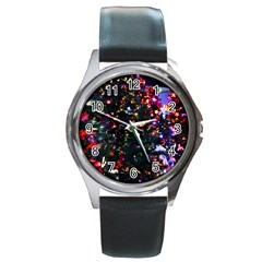 Abstract Background Celebration Round Metal Watch by Celenk