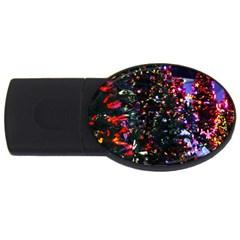 Abstract Background Celebration Usb Flash Drive Oval (4 Gb) by Celenk