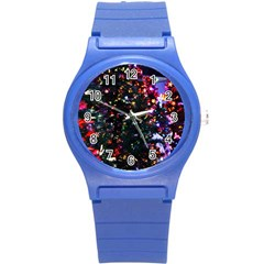 Abstract Background Celebration Round Plastic Sport Watch (s) by Celenk
