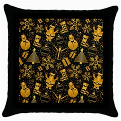 Christmas Background Throw Pillow Case (black) by Celenk