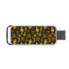Christmas Background Portable Usb Flash (two Sides) by Celenk