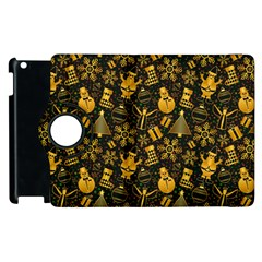 Christmas Background Apple Ipad 3/4 Flip 360 Case by Celenk