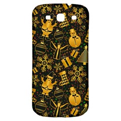 Christmas Background Samsung Galaxy S3 S Iii Classic Hardshell Back Case by Celenk