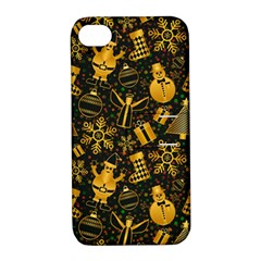 Christmas Background Apple Iphone 4/4s Hardshell Case With Stand by Celenk