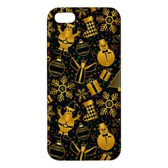 Christmas Background Apple Iphone 5 Premium Hardshell Case by Celenk