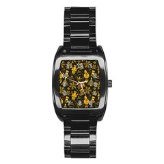 Christmas Background Stainless Steel Barrel Watch