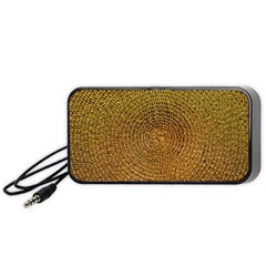 Background Gold Pattern Structure Portable Speaker by Celenk