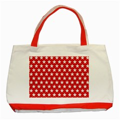 Star Christmas Advent Structure Classic Tote Bag (red) by Celenk