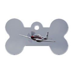 P 51 Mustang Flying Dog Tag Bone (one Side) by Ucco