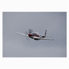 P 51 Mustang Flying Large Glasses Cloth by Ucco