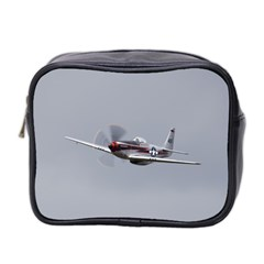 P 51 Mustang Flying Mini Toiletries Bag 2 Side by Ucco