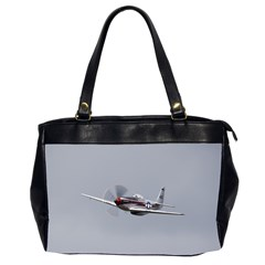 P 51 Mustang Flying Office Handbags (2 Sides)  by Ucco
