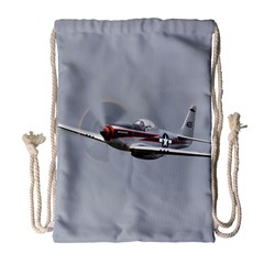 P 51 Mustang Flying Drawstring Bag (large) by Ucco