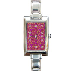 Sacred Geometry Hand Drawing Rectangle Italian Charm Watch by Cveti