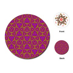 Sacred Geometry Hand Drawing Playing Cards (round)  by Cveti