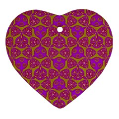 Sacred Geometry Hand Drawing Heart Ornament (two Sides) by Cveti