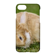 Beautiful Blue Eyed Bunny On Green Grass Apple Iphone 7 Hardshell Case