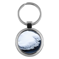 Ice, Snow And Moving Water Key Chains (round)  by Ucco
