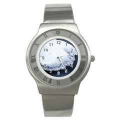 Ice, Snow And Moving Water Stainless Steel Watch by Ucco