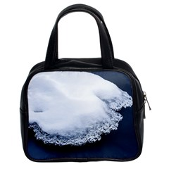 Ice, Snow And Moving Water Classic Handbags (2 Sides) by Ucco