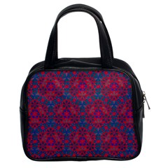 Bereket Red Blue Classic Handbags (2 Sides) by Cveti