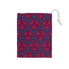 Bereket Red Blue Drawstring Pouches (medium)  by Cveti