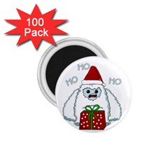 Yeti Xmas 1 75  Magnets (100 Pack)  by Valentinaart