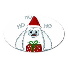 Yeti Xmas Oval Magnet by Valentinaart