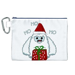 Yeti Xmas Canvas Cosmetic Bag (xl) by Valentinaart