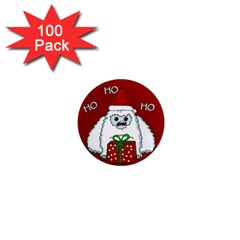 Yeti Xmas 1  Mini Magnets (100 Pack)  by Valentinaart