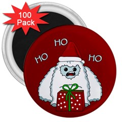 Yeti Xmas 3  Magnets (100 Pack) by Valentinaart