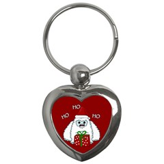 Yeti Xmas Key Chains (heart)  by Valentinaart