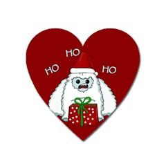 Yeti Xmas Heart Magnet by Valentinaart